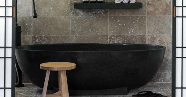 Baignoire îlot moderne- luxe en pierre naturelle par Apaiser  Design ...