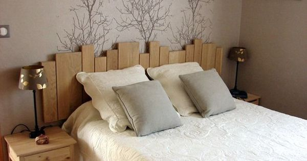 une id e originale pour une t te de lit du lambris d co chambre pinterest inspiration. Black Bedroom Furniture Sets. Home Design Ideas