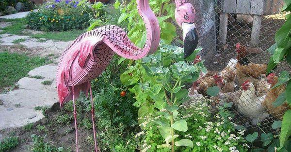 Decoraci n de jardines con neum ticos dinosaurios for Decoracion de jardin con neumaticos
