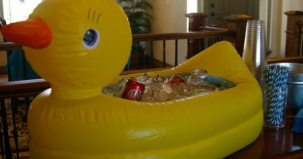 Cute Rubber Ducky Party Ideas Including Using A Rubber