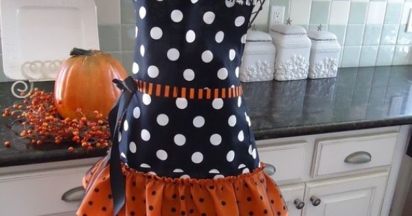 Halloween apron! Great to wear when meeting trick or treaters at the