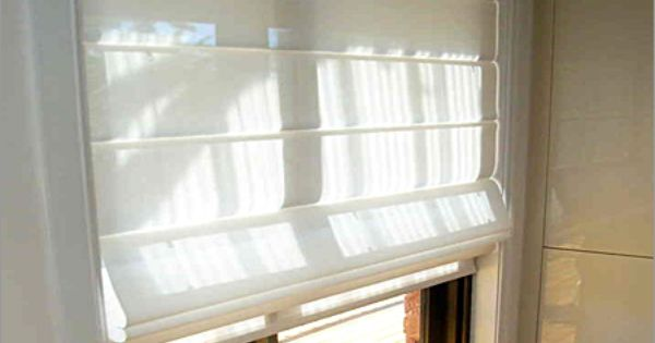 DIY yourself some mini sheer roman blinds for the toilet ...