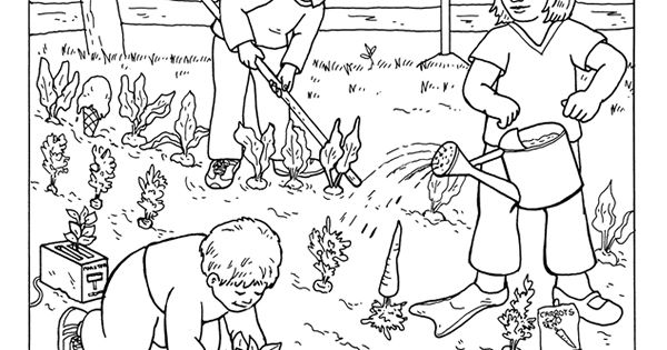 garden coloring pages preschool - photo#10