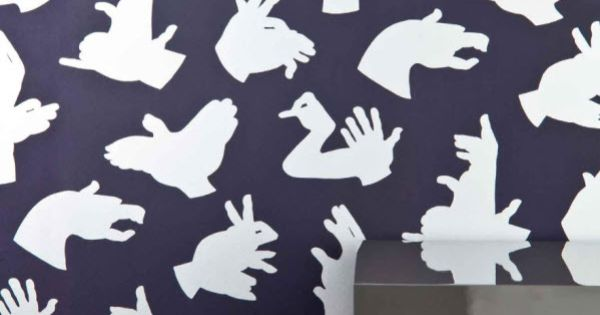 Cute shadow hand puppet wallpaper!