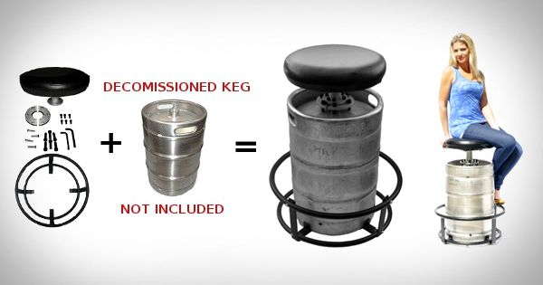 Keg Kit Barstool Mancave Giftsformen Ultimate Man