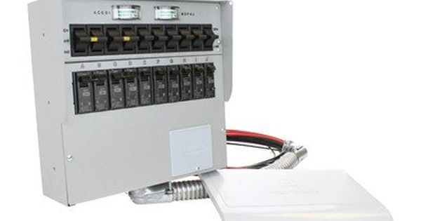 A310c Pro Tran2 30 Amp 10 Circuit 2 Manual Transfer Switch A310c 30a 10 Circuit W Meters