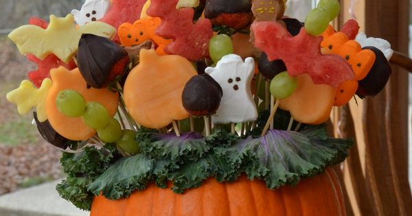 Halloween Fruit Arrangement