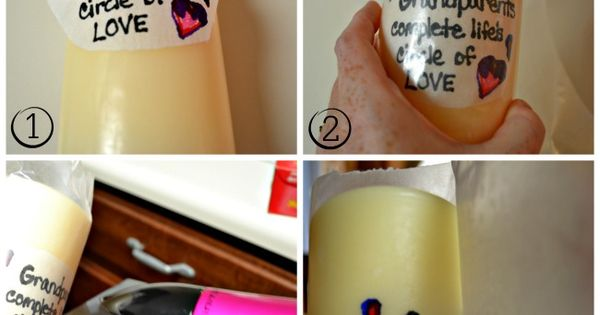 DIY Candle Printing... Quick and easy to create just about any design