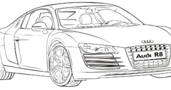 Audi R8 Coupe Coloring Page A