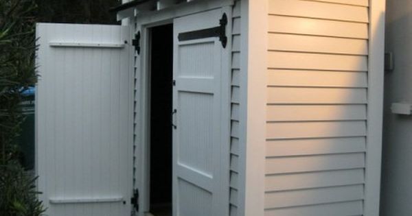 Narrow storage shed small storage shed along the side of for Narrow storage shed