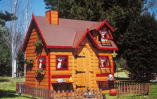 El cuarto de juegos en el jard n casas de juego - Casitas para el jardin ...