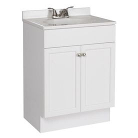 Project Source 24 5 In White Single Sink Bathroom Vanity With