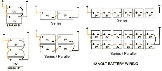 Two Inverters Together Series Parallel Wire Battery