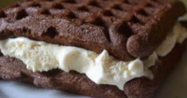 You can bake cake mix in a waffle iron, then take it