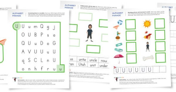 Alphabet Parade: Letter U Worksheets and Activity Suggestions ...