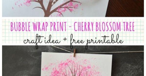 Bubble Wrap Print Autumn Tree W Free Printable Cherry Blossom Tree Blossom Trees Tree Crafts