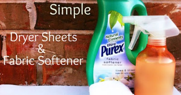 Frugal And Simple Laundry Week Homemade Dryer Sheets And Fabric