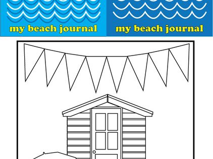 Color this funky beach hut and