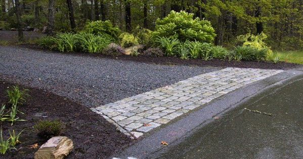 Gravel driveway ideas bing images outdoor spaces for Cape cod stone and gravel
