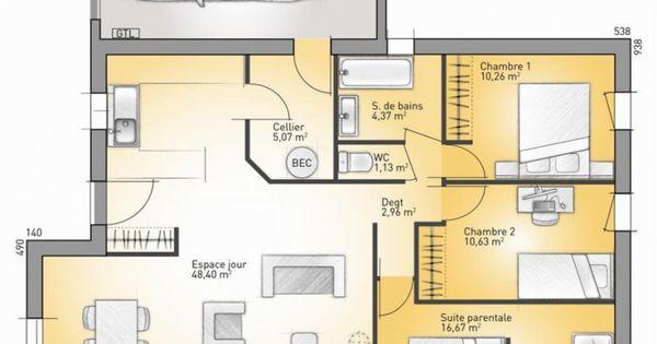 Plan Maison Plain Pied Chambres M   varsovia.co