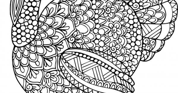 Adult Coloring Page Let S Talk Turkey Adult Coloring