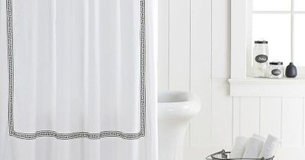 Greek Key Shower Curtainblack Luxury Shower Curtain Black