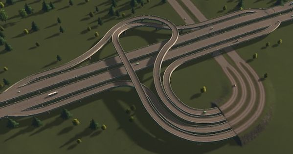 Steam ワークショップ 3 Way Interchange 2 City Skylines Game City Layout City Maps Design