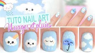 Nail Art Kawaii Clouds Nail Art Design Art Clouds Design Kawaii Nail Kawaii Nail Art Japanese Nail Art Nail Art For Kids