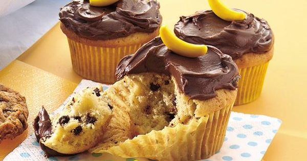 Party Frosting: Curious George Party Ideas and Inspiration Banana chocolate chip cupcakes