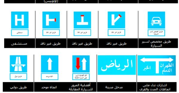 Isharat Seir إشارات السير Isharat Traffic Signs In Arabic Traffic Signs
