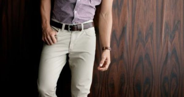 #Men's Fashion Tuesday - Casual. Love the rolled short sleeves! Don't like