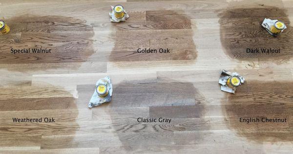 Minwax Floor Stain Test On Red Oak Floors In Natural Light