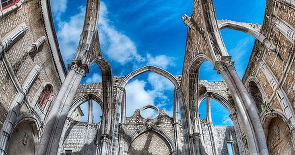 The ruins of Carmo Convent, Lisbon, Portugal (photography, photo, picture, image, beautiful,