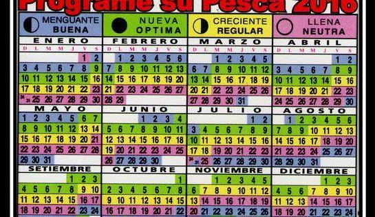 Calendario pesca 2016 pesca pinterest Fase lunar octubre 2016