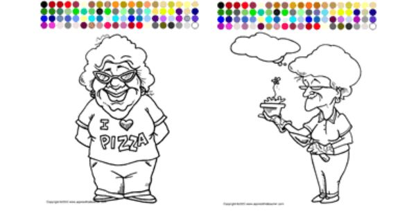Apples4theteacher Coloring Pages : Printable interactive grandparents day coloring pages