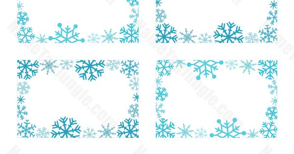 Classroom Birthday Party Favors ~ Printable snowflake name tags download them at http