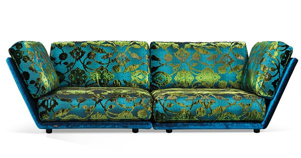 napali sofa: turquoise sofa; ground level seating. signature bretz, Mobel ideea
