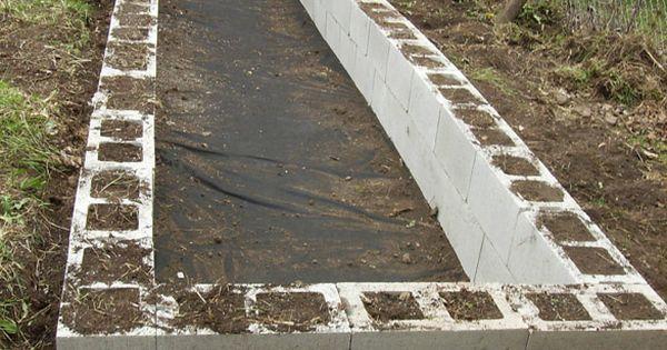 Cinder block garden and blog about gardening in warm climate