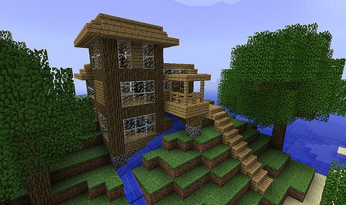 Step By Step Large Cabin Creative Mode Minecraft Discussion