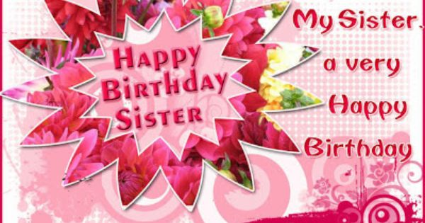birthday cards for facebook | happy birthday sister ...