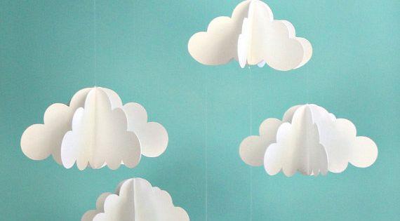 3D paper clouds ♥ etsy