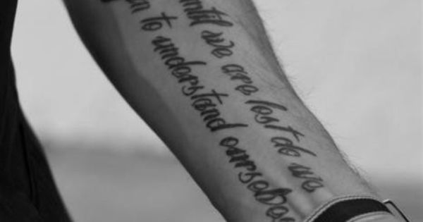 Tattoo Sayings, Quotes and Placement Ideas