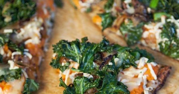 Sweet Potato Pizza with Kale and Caramelized Onions | Recipe | Sweet ...