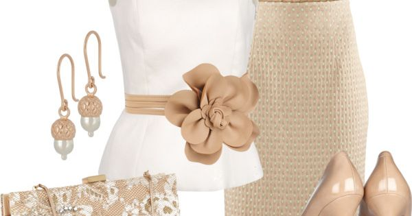 Classy Outfits 2012 | Cream Dream | Fashionista Work Outfit| http://workoutfitstyles.blogspot.com