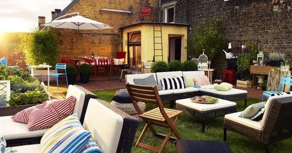 Sichtschutz Innenhof Garten Lounge Dekoration