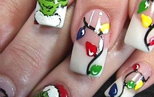 The Grinch Nail Design