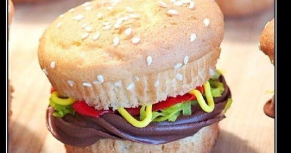 Hamburger cupcakes, Hamburgers and Cupcake on Pinterest