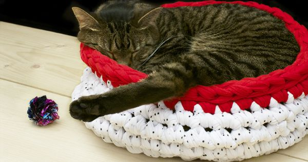 Super Bulky Crocheted pet Bed