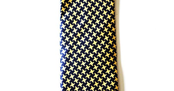 Mens Tie Black and Yellow Modern Pattern Skinny by TiestheKnot, $8.99