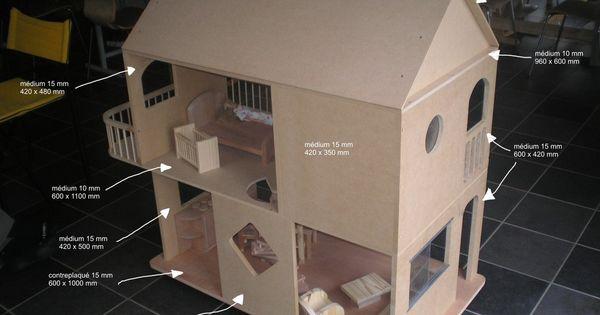 plans et explications pour fabrication de maisons de poup es barbie photos id e pour creation. Black Bedroom Furniture Sets. Home Design Ideas